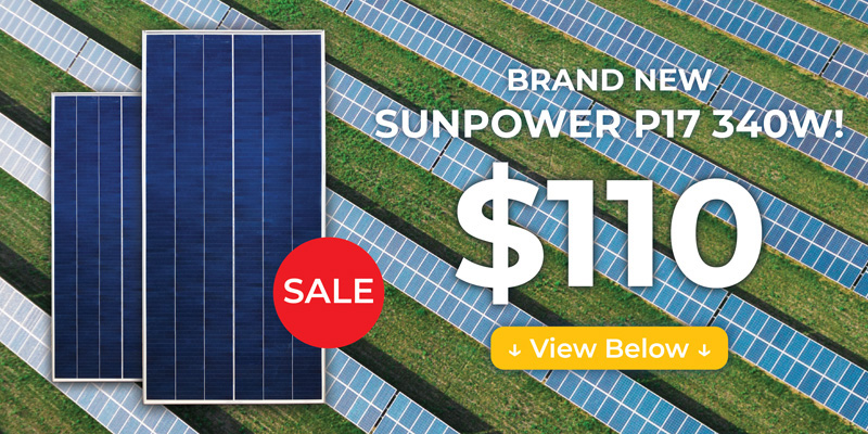 Brand new SunPower P17 340W solar panel for $110