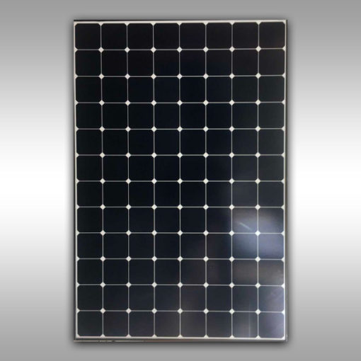 black sunpower mono solar panel