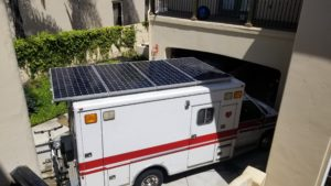 Solar Panels On Ambulance