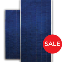 Blue SP17 solar panel with red circle sale sign