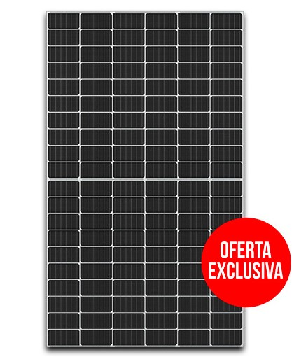 A black solar panel that says special offer