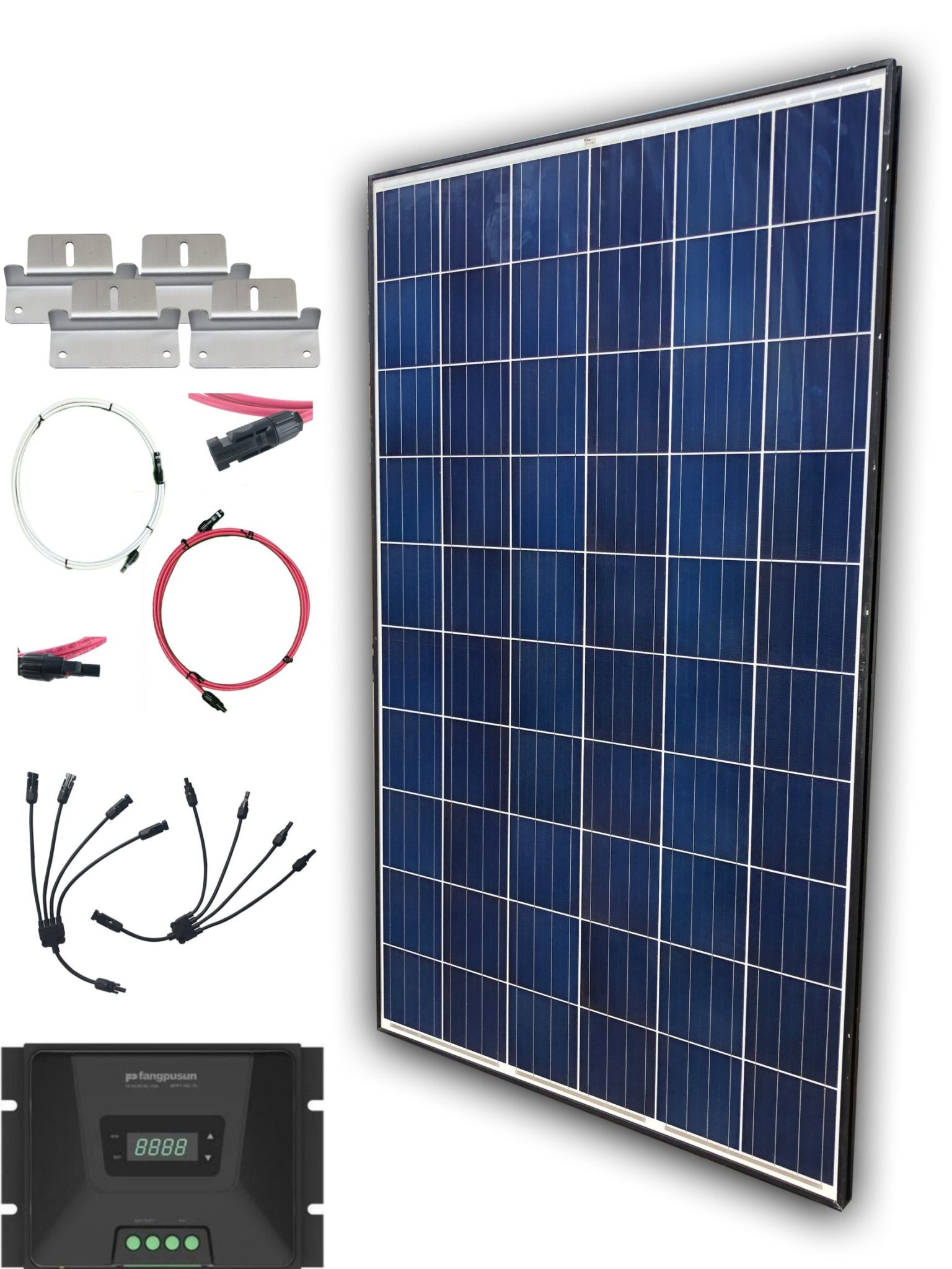 250W Solar Panel Kit with charge controller