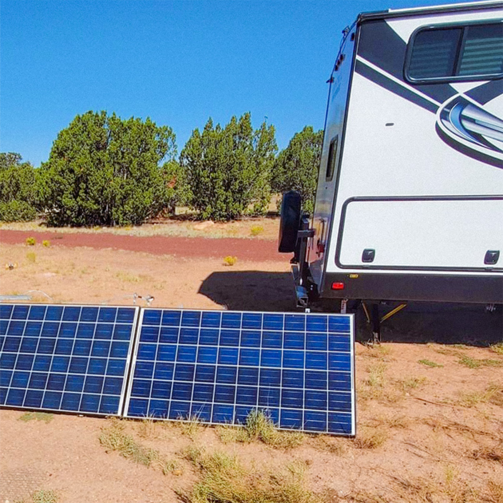 Solar Panel Kit outside of a Solar powered RV for SanTan Solar