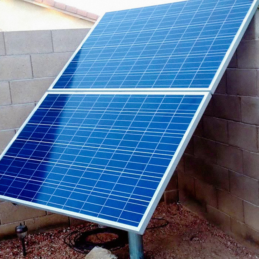 Solar pool pump powered by a solar panel SanTan Solar