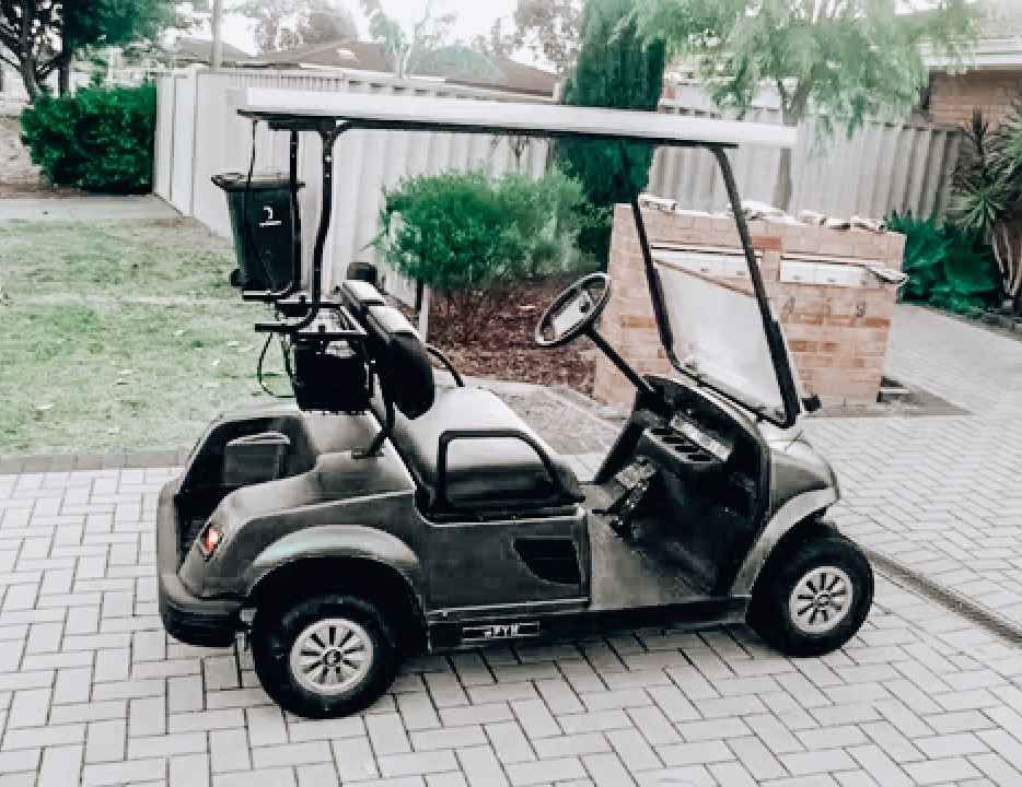 Solar powered golf cart powered by solar panels SanTan Solar